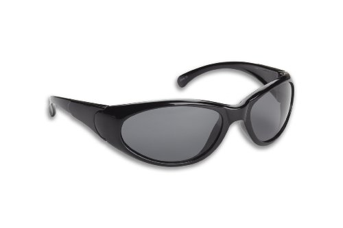 Fisherman Eyewear 14 Fly Original Polarized Sunglasses (Black Frame, Gray - Black Eyewear Fly