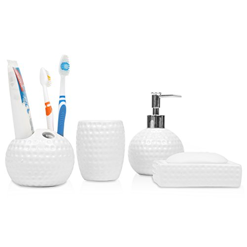 Ceramic Bathroom Accessories Dispenser Toothbrush