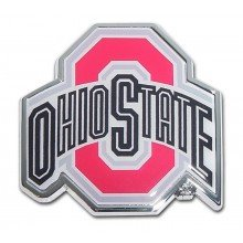 MVP Accessories Ohio State Buckeyes Metal Auto Emblem with Colored Team Logo