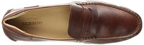 Sebago Mens Kedge Penny Slip-On Loafer Brown Oiled Waxy Leather