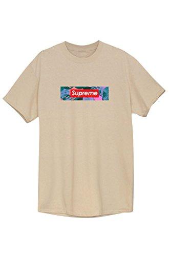 SUPREME Tee T-Shirt Shirt Sweat Tee Style Tee Unisex beige palm pattern