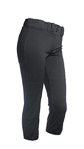 RIP-IT Girl's Classic Softball Pant (Black, Medium)