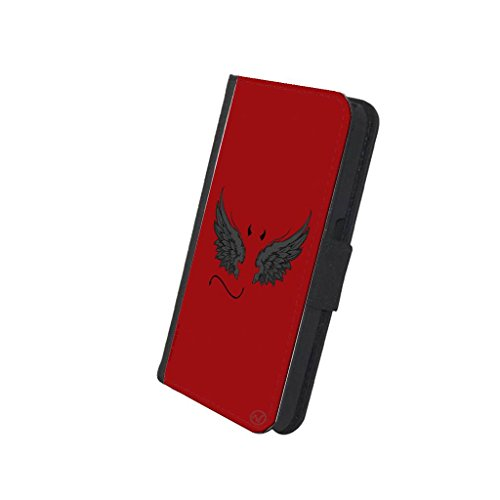 Devil Angel Wings Good Bad Girls - New Vibe iPhone 8 Leather Wallet Cover -