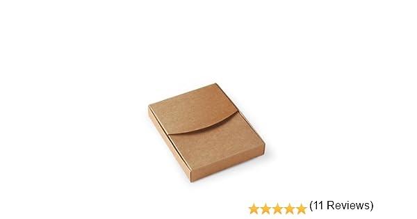 Selfpackaging Caja para Fotos en cartulina Kraft Bodas, bautizos. Pack de 50 Unidades - XS