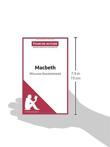 Buy Macbeth De William Shakespeare Fiche De Lecture Resume