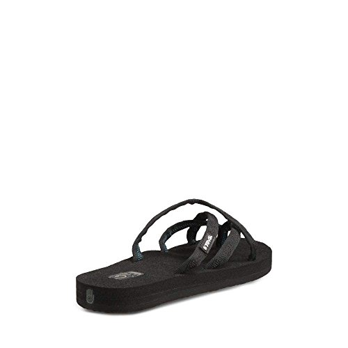 e9fb6d1b1d13 Teva Women s Olowahu Flip-Flop - 7 B(M) US - Mix Black on - Import It All