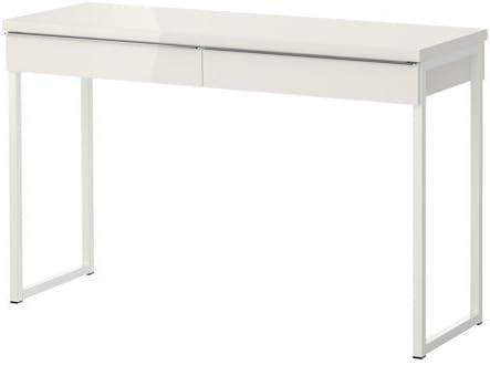 Ikea Besta Burs Desk High Gloss White 120x40 Cm Amazon Co Uk Kitchen Home