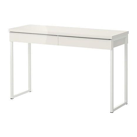 Mesa Despacho Ikea Blanca.Ikea Escritorio Laptop De Mesa Besta Burs Lacada En Ambos