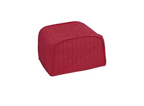 RITZ Polyester / Cotton Quilted Two Slice Toaster Appliance Cover, Dust and Fingerprint Protection, Machine Washable, Paprika - Paprika Counter
