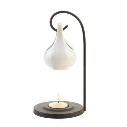 UPC 849179003081, Hanging Tear Drop Oil Warmer (White)