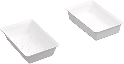 KOHLER K-5544-0 Prolific Colander and Washbin, White by Kohler
