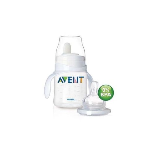 Philips AVENT BPA Free Classic Bottle to 1St Cup Trainer, 4+ Months/Single, 4 Ounce, 4-Pack