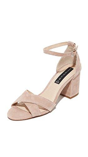 STEVEN by Steve Madden Women Voomme Dress Sandal Pink Suede