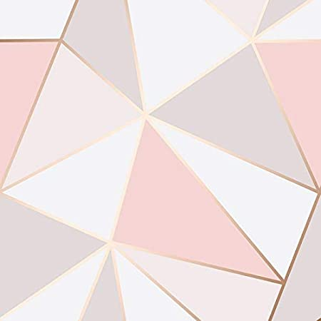 Fine Decor Apex Papier Peint G/éom/étrique Doux Rose Rose D/'or fd41993