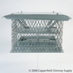 Chimney 34610 Chim-A-Lator Deluxe Damper - 12 Inches x 12 Inches by Copperfield Chimney Supply