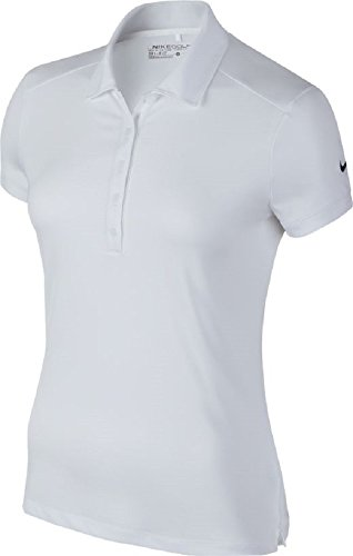 Nike Victory Solid Golf Polo 2016 Ladies White/Black Large