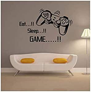 Gaming Vinyl Wall Stickers Art Joystick Video Game Wall Sticker Self-adhesive Wallpaper Poster For Boys-ee