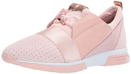 (Ted Baker Women's Cepa Sneaker, Mink Pink Suede/Satin, 7 Medium US)