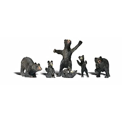 Woodland Scenics HO Black Bears WOOA1885: Toys & Games
