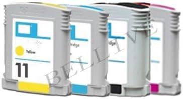 Kit 4 cartuchos compatible para HP10 HP11 HP 10 HP 11 Inkjet 2200 ...