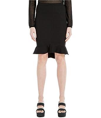Max Studio Womens Flounce Pleated Pencil Skirt