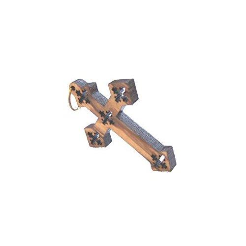 Olive wood Coptic Cross Laser Pendant 8cm or 3.15 long