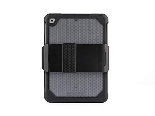 Griffin Survivor Extreme iPad 9.7 (2017) Case with Stand - Impact-Resistant, Black/Clear