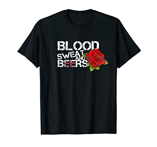 Blood Sweat Beers Shirt England Flag Rugby Six Nations