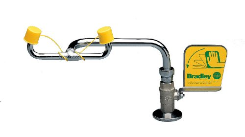 Bradley S19-270B Laboratory Application Safety Eyewash, Right Hand Deck Mount, 0.4 GPM Water Flow, 17-51/128'' Length x 8-3/8'' Height by Bradley