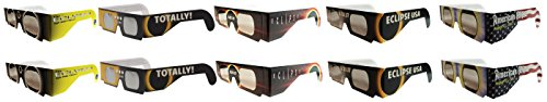 Eclipse Glasses - CE Certified Safe Solar Eclipse Glasses – 10pk Assorted Designs- Eye Protection