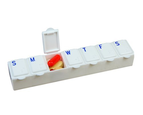 12 Pack -7 Day Pill Box Medium - Color White