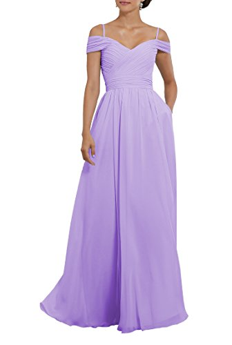 Off The Shoulder Pleated Chiffon Plus Size Formal Wedding Party Dress Long Evening Gown Size 28 Lavender