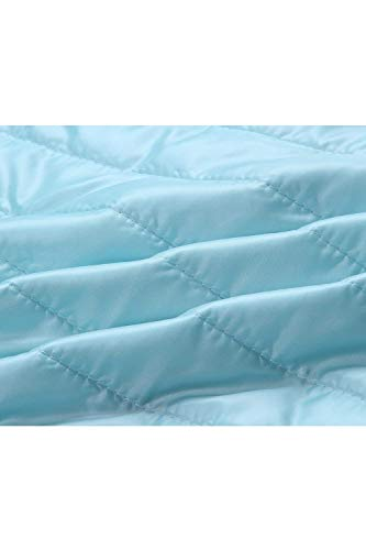 Elegantes Casual Acolchada Plumas Ligeramente Cómodo Manga Chaqueta Azul Encapuchado Otoño Modernas Mujer Acolchado Moda Cremallera Invierno Abrigos Parkas Unicolor Larga q0CIwEw