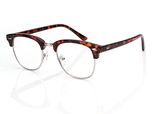 Beison Retro Style Wayfarer Readers Horn-rimmed Reading Glasses (Tortoise shell, - Shell Tortoise Spectacles