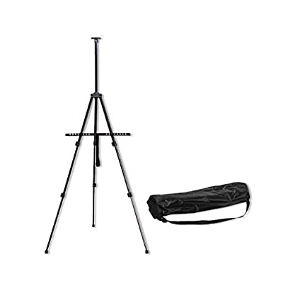 MXueei Easels ZfgG Iron Easel Painting Shelf Sketch Drawing Board Aluminum Folding Bracket Student Adult Oil Painting Tripod