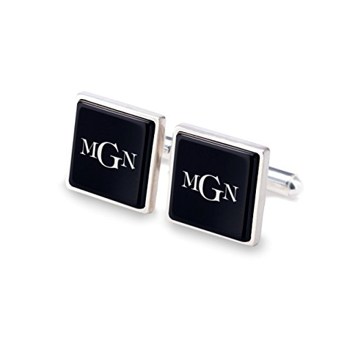2nd Anniversary Gifts for Men,2 year anniversary,Gifts for Him,Customized gifts for him,Gift idea, Custom cufflinks | 925 Silver, Onyx gamestone | Size 0.66 x 0.66 inches | Gift letter | Handmade by ZaNa Design