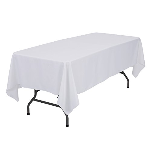 VEEYOO 60 x 102 inch Rectangular Solid Polyester Tablecloth