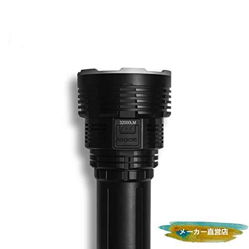 懐中電灯 IMALENT DX80 最強 ハンディライト 爆光 フラッシュライト 超 明るい 32000lm 照射距離806m 連続点灯168時間 6段階点灯+ストロボ ディスプレ電池残表示 スイッチロック 黒系硬派なデザイン【5年間無料修理】   B07H7FHY6X