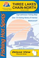 Three Lakes Chain North Section Fishing Map (Wisconsin Series, M207)