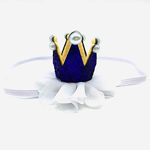 Best Quality Hah Pearl Sequins Crown Baby Birthday Party Pearl Pattern ren Hair Band Head Wear Headband Toddler Newborn Princess Hat -