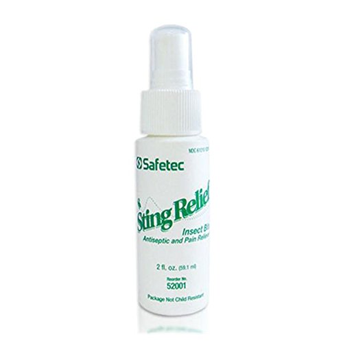 - WP000-52001 52001 Spray FirstAid Safetec Sting Relief Pump 2oz Quantity of 1 unit From Safetec Of America Inc -# 52001
