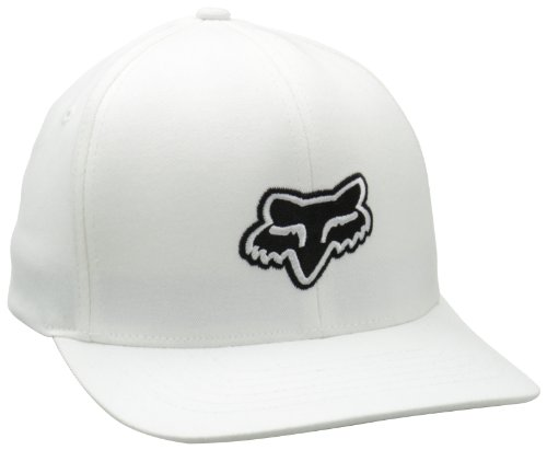 Urban Mens Hat (Fox Men's Legacy Flexfit Hat, White, Large/X-Large)