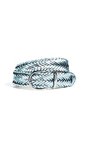 B-Low The Belt Women's Brooklyn Metallic Belt, Sky/Silver, Medium by B-Low the Belt