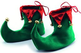 Green Adults Christmas Elf (Adult Elf Shoes)