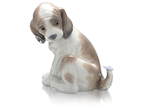 LLADRÓ Gentle Surprise Dog Figurine. Porcelain Puppy Figure.