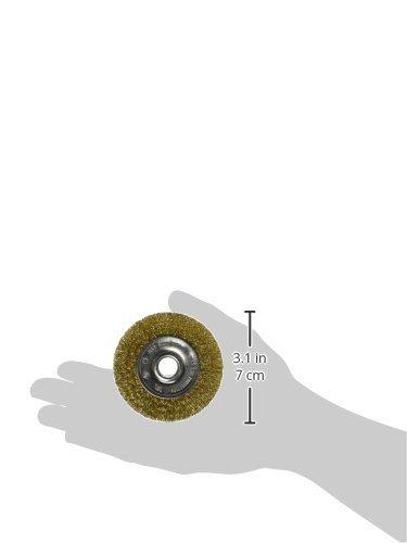Vermont American 16796 3-Inch Fine Brass Wire Wheel Brush for 1//2-Inch arbor