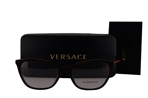 Versace VE3248 Eyeglasses 52-16-140 Red w/Demo Clear Lens 989 VE - Sale Versace Eyeglasses