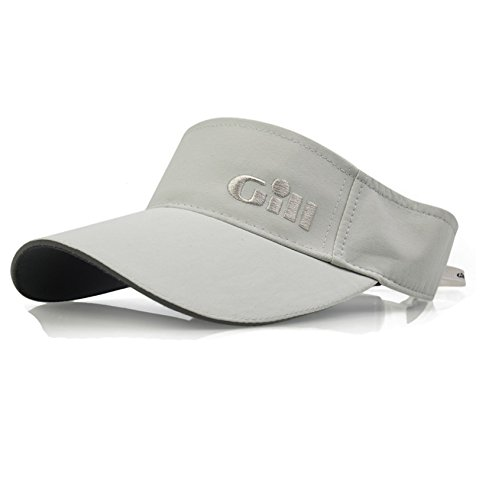 GILL Regatta Visor Silver - Unisex - Lightweight. Breathable - Hidden Adjustment System.