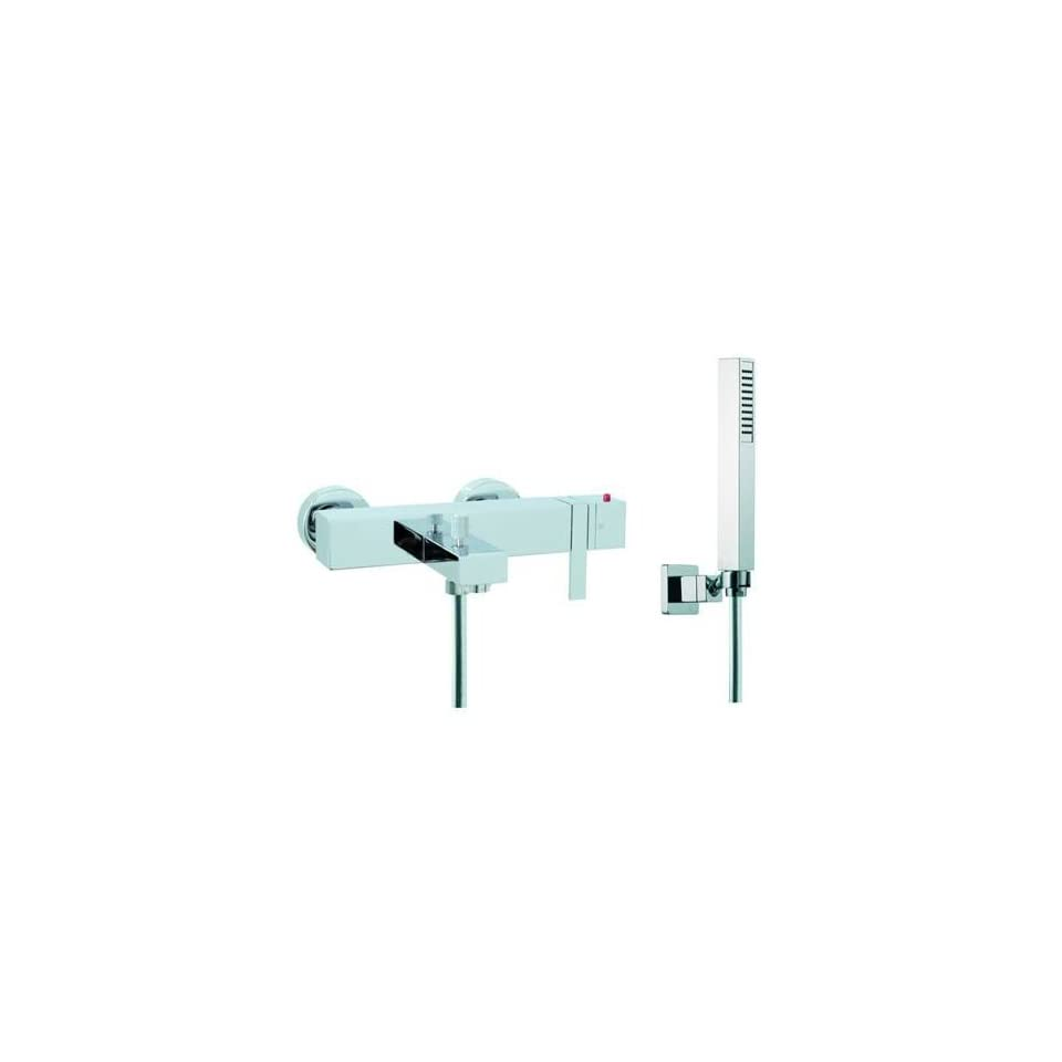 Chrome Brick Wall Mounted Thermostatic Shower with Hand Shower S4044