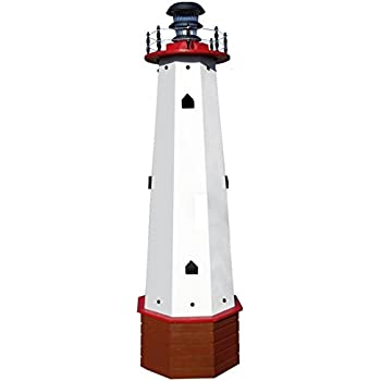 Amazon Com Solar Lighthouse Wooden Well Pump Cover
